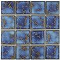 Delta Square Azure 12 1/2 x 12 1/2 Inch Porcelain Floor and Wall Tile (10 Pcs, 10.9 Sq. Ft. Per Case)