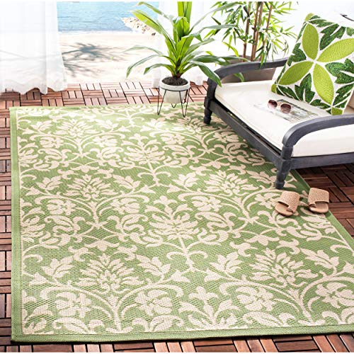 Safavieh Courtyard Collection CY3416-1E06 Olive and Natural Indoor/ Outdoor Area Rug (5