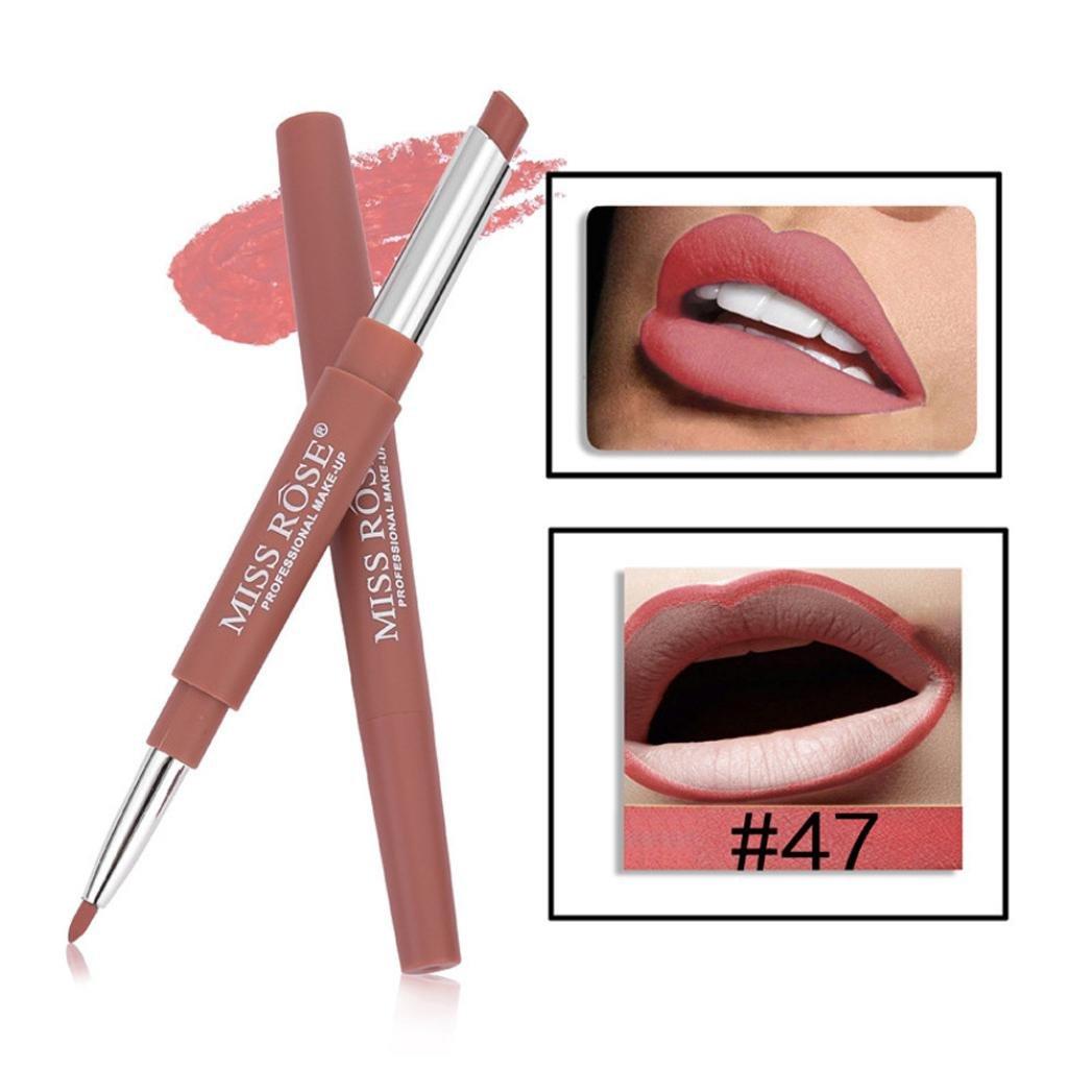 Miss Rose Double-end Lasting Lipliner Waterproof Lip Liner Stick Pencil 14 Color (#47)