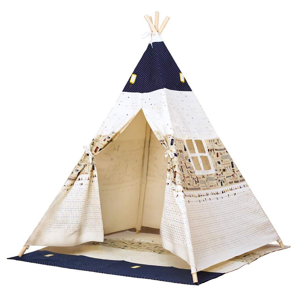 Bino 82820 - Tenda da Gioco Teepee, colore  Blu Beige