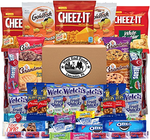 - Snack Pack Variety Assortment of Fruit Snacks, Candy, Cookies, Crackers (Count 40)