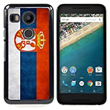 Ihec Tech National Flag Nation Country Serbia / Hard Plastic Case / for LG GOOGLE NEXUS 5X H790