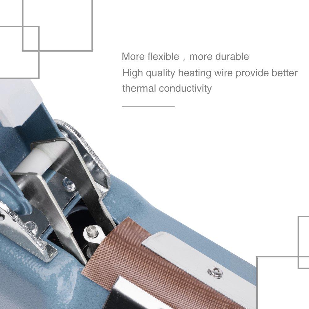 Metronic Impulse Bag Sealer Poly Bag Sealing Machine Heat Seal Closer with Repair Kit (8 inch) by Metronic (Image #5)