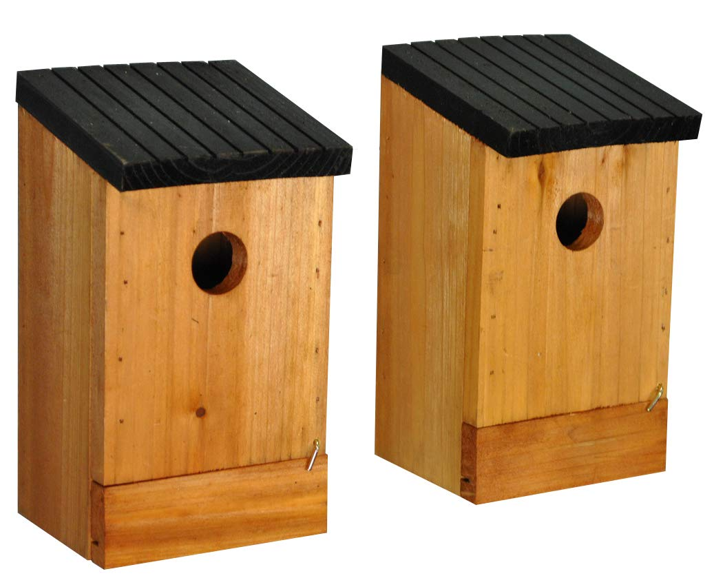 Set of 2 x Traditional Wooden Birds Nest Box Selections