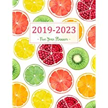 2019-2023 Five Year Planner: Monthly Schedule Organizer - Agenda Planner For The Next Five Years, 60 Months Calendar, Appointment Notebook, Monthly Planner, To Do List, Action Day, Passion Goal Setting, Happiness Gratitude Book | Orange Lemon Cover