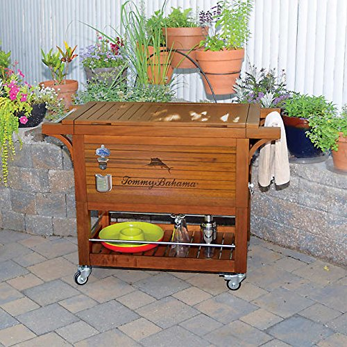 Great Features Of Tommy Bahama Relax 100 Quart / 94.6 L Wood Rolling Cooler