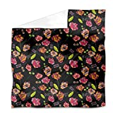 Flowers From Peru Flat Sheet: King Luxury Microfiber, Soft, Breathable