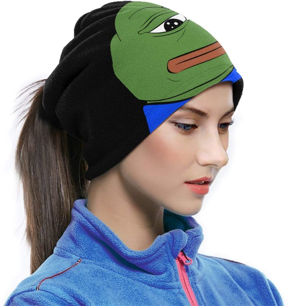 Pepe The Frog Logo Neck Gaiter Warmer Unisex Warm Circle Loop Scarves For Winter Outdoor Sports
