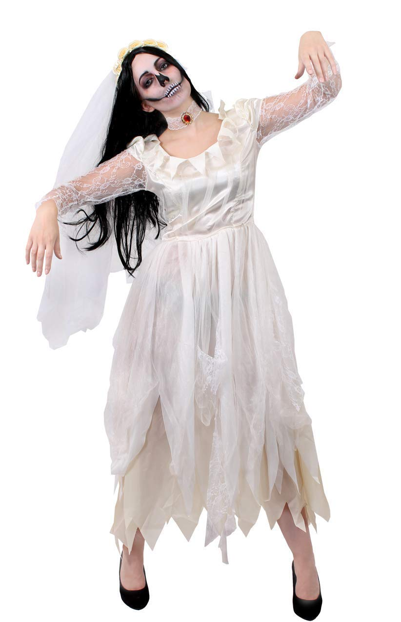 I LOVE FANCY DRESS LTD Disfraz DE Novia Fantasma para Damas ...
