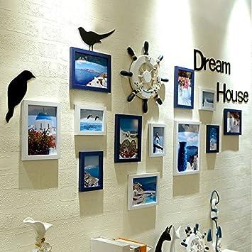 Hjky Bilderrahmen Set Barber Shop Aufhängen Bilder Wand Cafe Wand Aufhängen  Verzierungen Der Wände Sind Mit