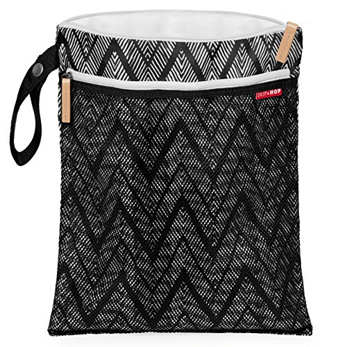 Skip Hop Grab & Go Wet/Dry Bag, Zig Zag Zebra (Mesh Zebra)