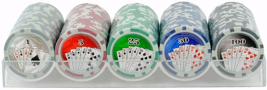 Estuche bandeja de 100 fichas de poker profesional 11,5gr. Pro Poker 100 High Gloss Chips: Amazon.es: Electrónica