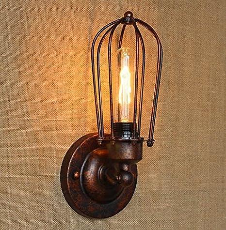Loft Wandlampe industrielle Vintage einzigen Lampe Restaurant Bar Gang Basement Eisen Wandleuchten (Color : D) YCLED