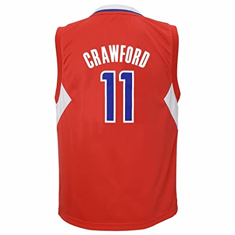 129f36b10ca adidas Jamal Crawford Los Angeles Clippers NBA Boys Red Official Road  Replica Basketball Jersey (5