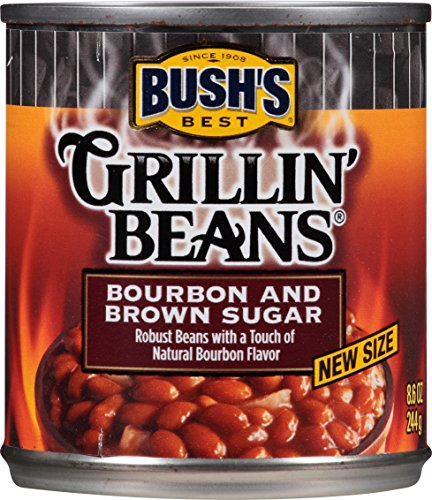 Bush's Best Grillin' Beans Burbon and Brown Sugar, 8.6 oz cans (12 pack)