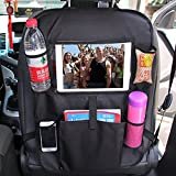 """You Gai Car Back Seat Organizer - Touch Screen Pocket for Tablets up to 10.1"""" - Multipurpose Use as Auto Seat Back Protector, Kick Mat, Car Organizer"""