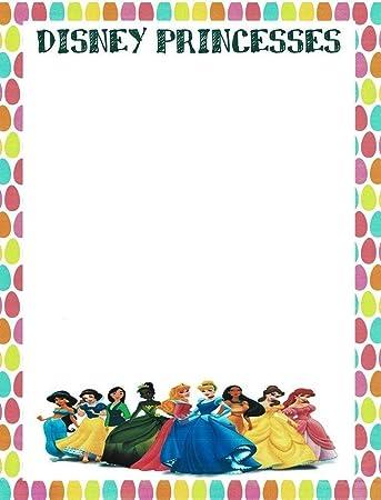 Amazon.com: Princesas Disney Papelería Papel para impresora ...