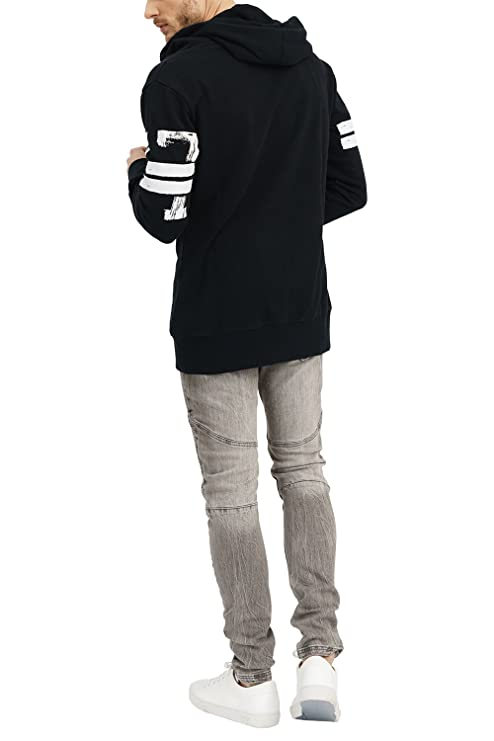 02a90c1e trueprodigy Casual Mens Clothes Funny and Cool Designer Sweatshirt Hoodie  for Men with Design Zipper Slim Fit Long Sleeve Black Sale: Amazon.co.uk:  Clothing