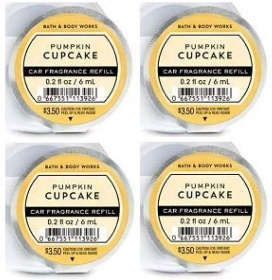 BB Bath and Body Works - Pumpkin Cupcake - 4 Pack - Scentportable Fragrance Refill. 0.2 Oz. - (2019 Edition)