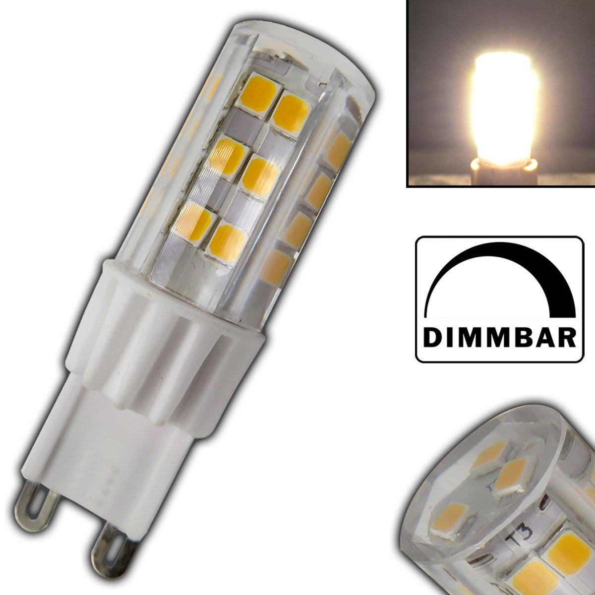 G9 LED Leuchtmittel 5 Watt 51SMD dimmbar Keramik warmweiß(für Dimmer ...