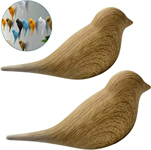 Ceation Core 2Pcs 3D Creative Resin Bird Wall Hooks, Home Accessories Wall Decoration Towel Coat Hook Wall Hooks,Natural