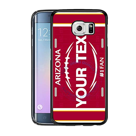 amazon com brgiftshop customize your own football team arizonaimage unavailable image not available for color brgiftshop customize your own football team arizona rubber phone case for samsung galaxy s6 edge
