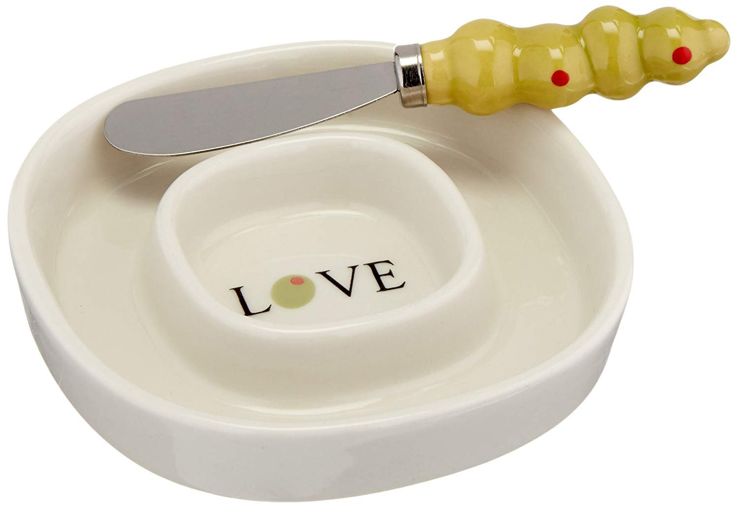 ''Olive You'' Olive Tray and Spreader [Set of 48] by Kate Aspen