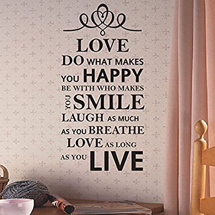 Amazoncom Live Love Laugh Family Smile Happy Art Vinyl Wall