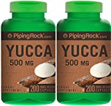 Piping Rock Yucca Root 500 mg 2 Bottles x 100 Quick Release Capsules Herbal Supplement