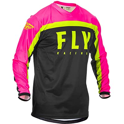 Fly Racing 2020 F-16 Jersey (Small) (NEON Pink/Black/HI-VIZ): Automotive