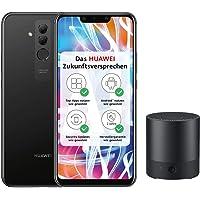Huawei Mate20 lite Dual Nano-SIM Smartphone (6.3 Zoll, 64 GB interner Speicher, 4 GB RAM, 20 MP + 2 MP Kamera, Android 8.1, EMUI 8.2) schwarz - Deutsche Version + Bluetooth MiniSpeaker CM510, schwarz
