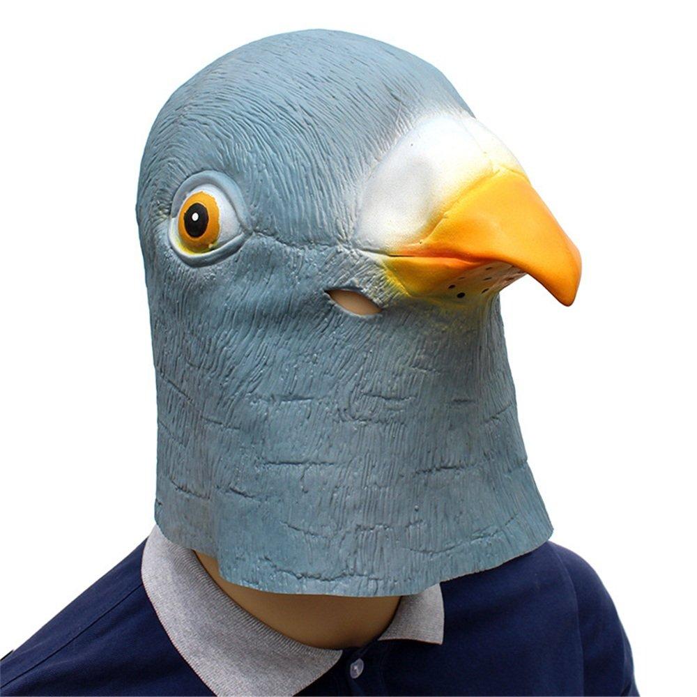 HBWJSH Halloween Urlaub Party liefert Tier Latex Maske Taube (Farbe : Blau)