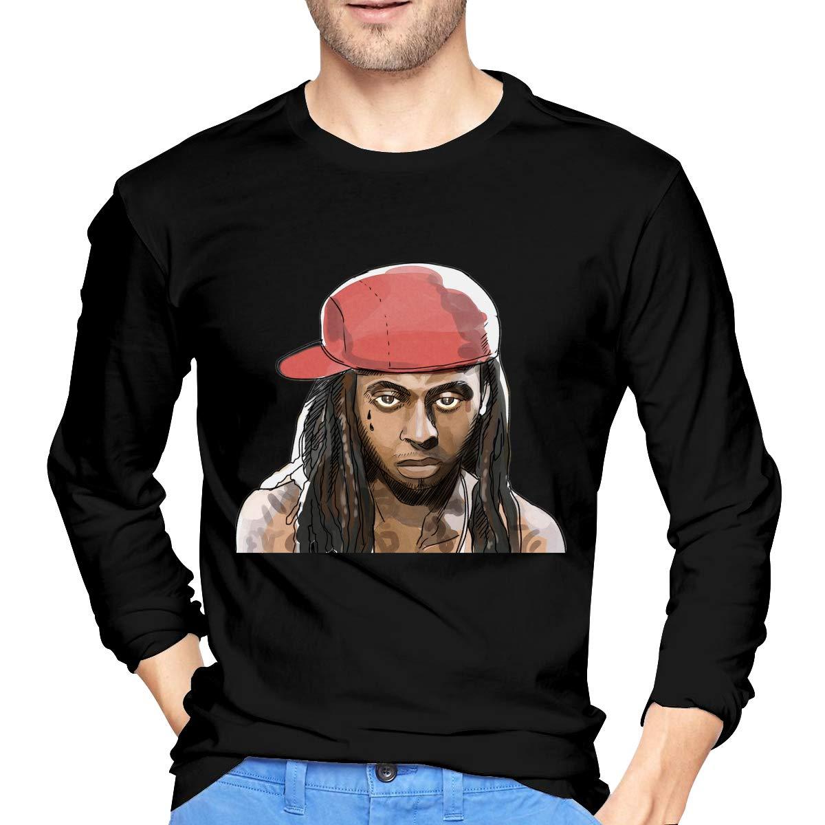 Lihehen Man Lil Wayne Retro Printing Round Neck S Shirts