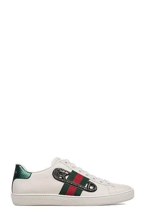 Gucci Mujer 454552A38G09064 Blanco Cuero Zapatillas: Amazon.es: Zapatos y complementos