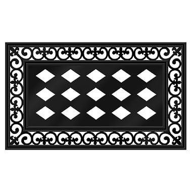 Evergreen Flag Chic Black Gorgeous Fleur Scroll Sassafras Switch Mat Surround Base Tray - 30  Long x 18  High