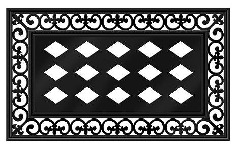 Awesome Evergreen Flag Black Fleur De Lis Decorative Rubber And Polyester Sassafras  Mat Tray