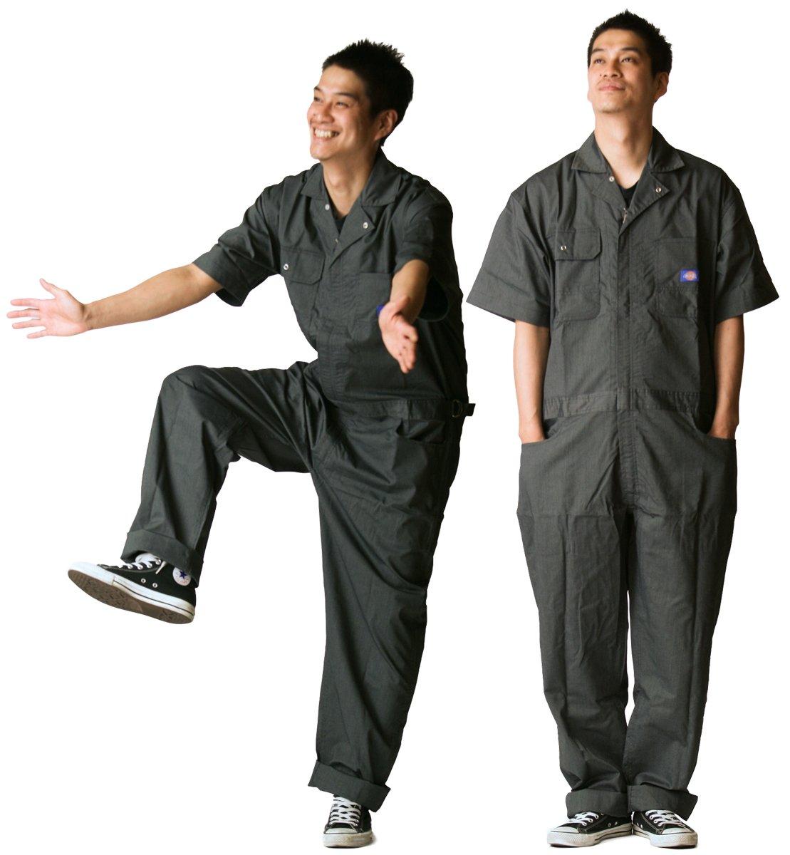 ディッキーズ Dickies (山田辰)夏用半袖 ツヅキ服 713 ブラック LLサイズ B008H1TOT2 LL|ブラック