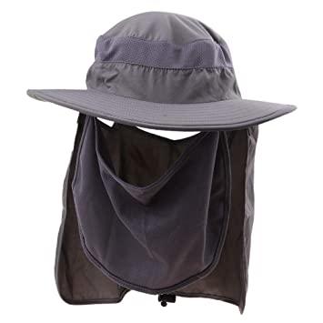 7626db1fd57 P Prettyia Sun Cap Flap Hat 360 Degrees Sun Protection Hat Removable Neck  and Face Flap