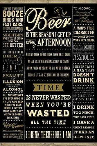 Drinking Quotes Poster Art Print
