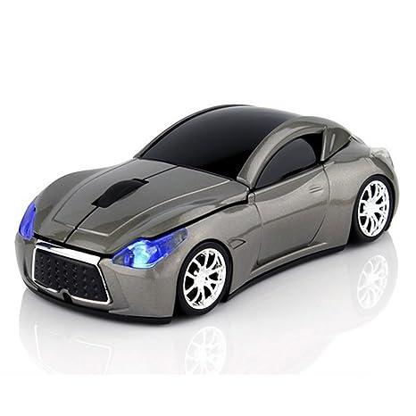 ratones de ordenador óptica deportiva ratón inalámbrico de coche (gris)