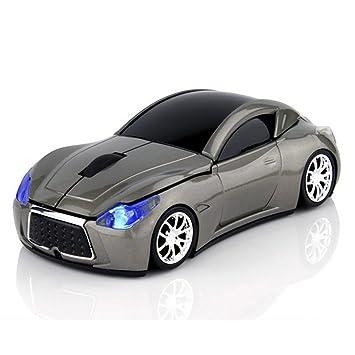 ratones de ordenador óptica deportiva ratón inalámbrico de coche (gris): Amazon.es: Electrónica