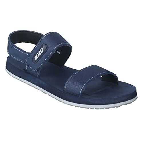 4eb58c7bd4d35 Kito Men s Leather Sandals and Floaters - 43  Buy Online at Low ...