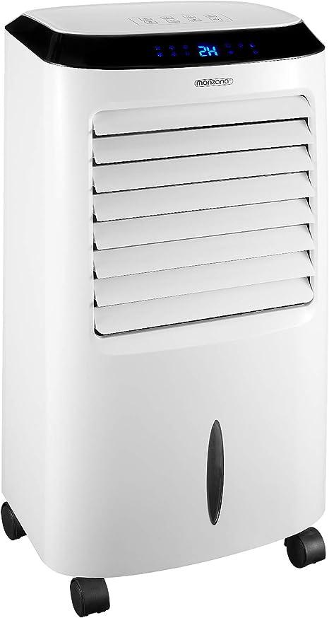 Monzana Aire acondicionado portátil 4en1 móvil ventilador humidificador ionizador purificador de aire temporizador 65W: Amazon.es: Grandes electrodomésticos