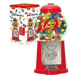 Jelly Belly Mini Bean Machine Jelly Bean Dispenser, Includes 3.25-oz of Jelly Belly Jelly Beans, Multi