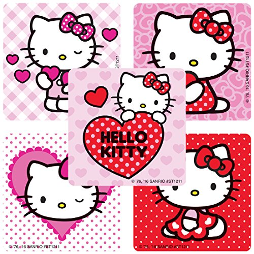 (SmileMakers Hello Kitty Valentine's Stickers - Prizes 100 Per)