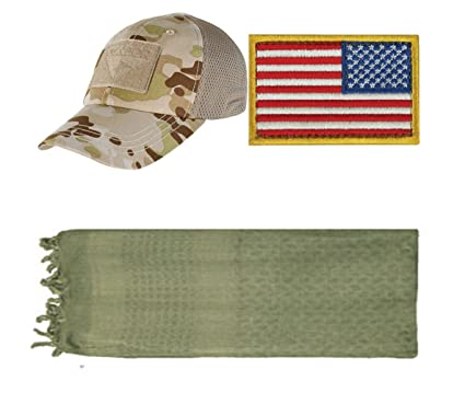 49e5e7ccc89 Image Unavailable. Image not available for. Color  Ultimate Arms Gear Cap  Mesh Multicam Arid + USA Patch ...