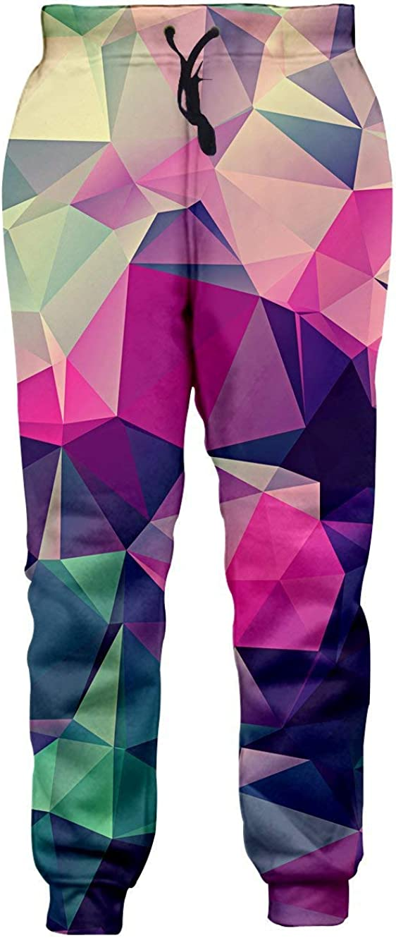 Loveternal Men Women 3D Digital Print Graphric Cool Joggers Casual Pants Sports Sweatpants