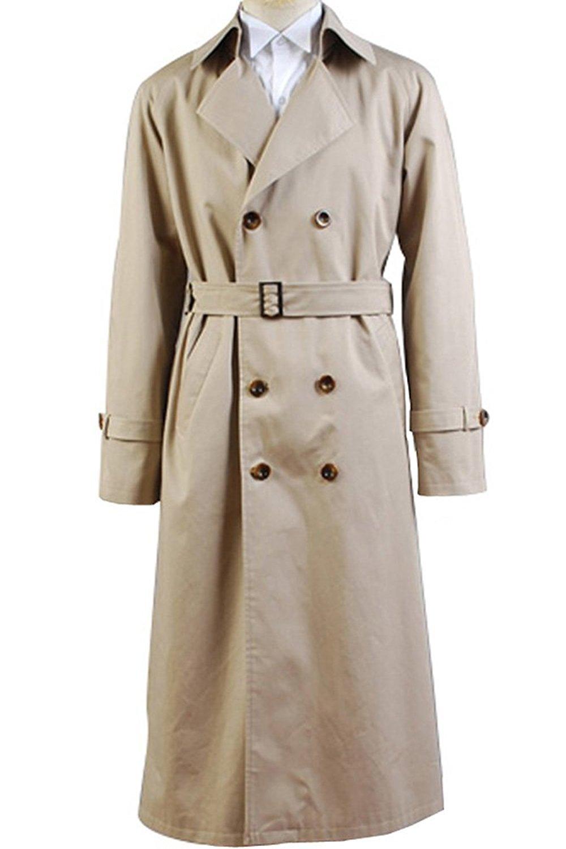 VOSTE Angel Castiel Costume Beige Trench Coat Jacket Halloween Cosplay for Men (Small, Men Jacket) by VOSTE (Image #1)