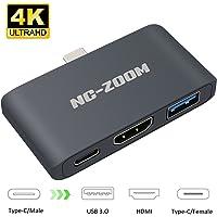 NC-ZOOM - Adaptador USB C tipo C a HDMI para Nintendo Switch 4 K Aluminio 3in1 Docking con Convertidor de Video HDMI TV Dock Cable para Nintendo Switch - Compatible con Samsung S8/S8+/MacBook Pro