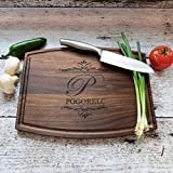 My personalized Walnut or Maple Cutting Board makes a wonderful Housewarming gift. Custom Wedding gift. Unique anniversary gift. My boards are of the highest quality and made here in the US with all natural wood. Each board will vary in color...